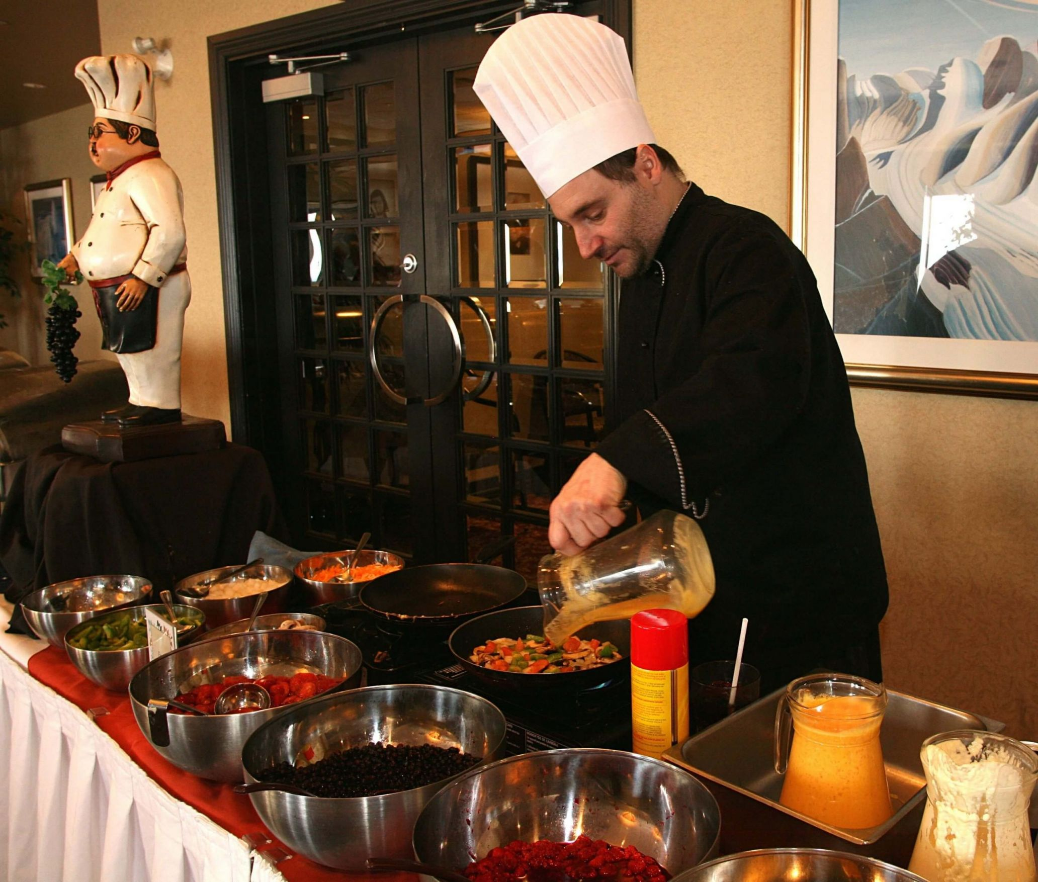 Chef preparing food - Frobisher Inn
