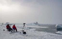 Waiting to capture Arctic wildlife